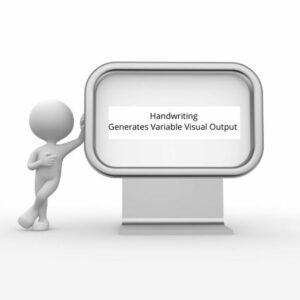 Handwriting Generates Variable Visual Output